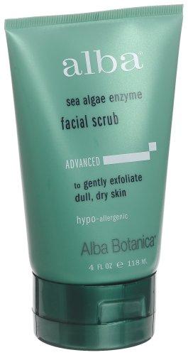 Alba Botanica Sea Enzyme Facial Scrub, 4-Ounce Tube  (Pack of 2)