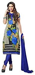 Avc Women's Cotton Unstitched Dress Material (Multi-Coloured)