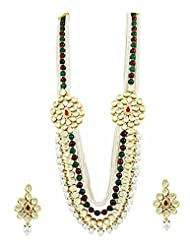 Incredible Pearl Dual Side Pendant Vilandi Kundan Long Necklace Set