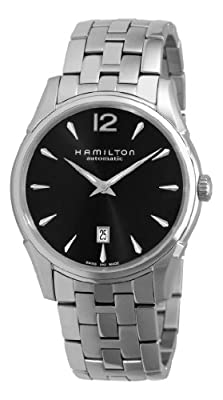 Hamilton Men's H38511133   Jazzmaster Slim Black Dial Watch
