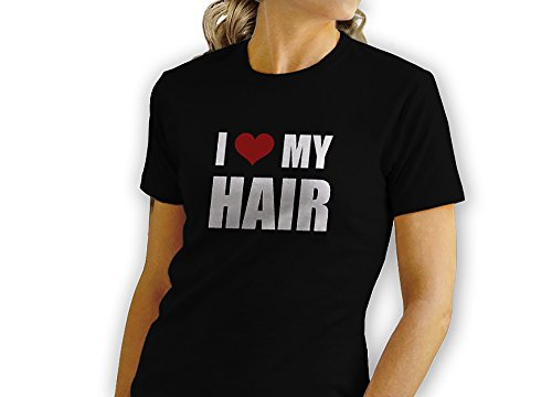 I Love My Hair - Red Heart - Novelty Gift - Custom Adult Unisex Tshirt