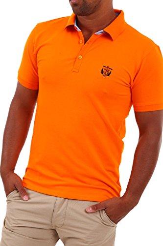SELECTED HOMME - Polo da uomo,  manica corta, arancione(exuberance), XS
