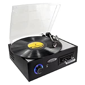 PYLE-HOME PTTC4U Multifunction Turntable with MP3 Recording, USB-to-PC and Cassette Playback