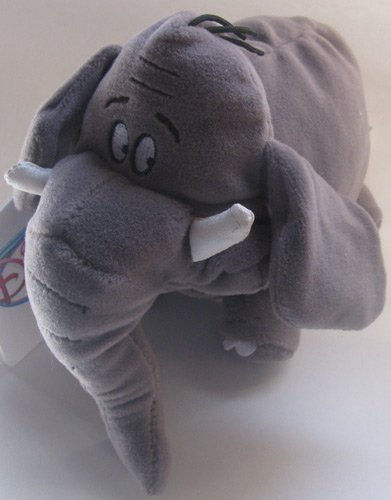 "Disney Bean Bag Plush Shep Elephant 8"" - 1"