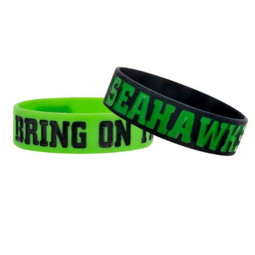 NFL Seattle Seahawks Bulky Bandz Bracelet 2-Pack at Amazon.com