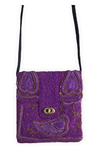 World Finds Fair Trade Recycled Sari Cross Body Bag