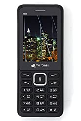 Micromax X603 Mobile Phone 2.4 inch Big Display Dual SIM Cellphone Keypad Cell Bar Black (Black)