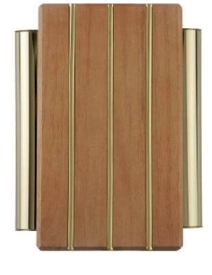 Thomas & Betts DH506 Decorative Wired Solid Wood Door Chime With Brass Finish Tubes