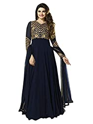 1 Stop Fashion You will look completely amazing by wearing this fabulous semi stitched anarkali Straight salwar kameez. Blue Georgette salwar suit is designed with Heavy Embroidery work. Blue santoon bottom and Blue Chiffon dupatta makes this attire looks more gorgeous. Accessories shown in the image are for photography purpose. (Slight color variation is possible)