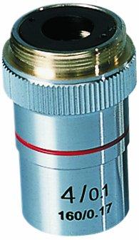 "3B Scientific Achromatic Objective Lens For W30600, W30605, W30610 Digital Course Microscopes, 4X Magnification, 3/32"" Diameter"