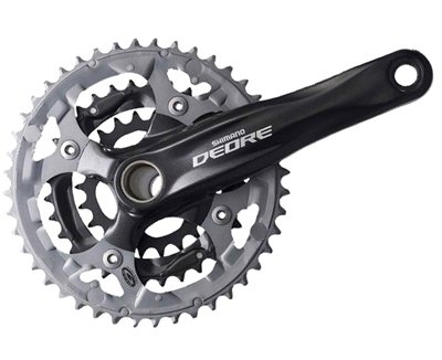 Shimano FC-M590 Deore Hollowtech II Crankset (Black, 175-mm 48/36/26T 9 Speed)