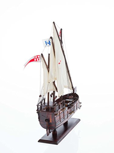 Columbus Nautical memorabilia - solid La Niña/Santa Clara ship - model caravel boat - wood