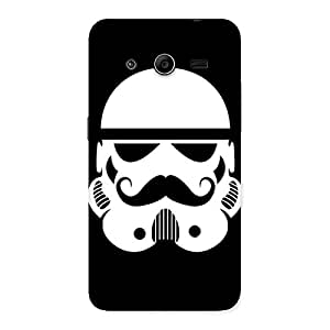 Cute Mustach Black Back Case Cover for Galaxy Core 2