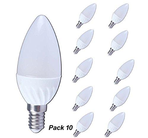 Lampaous 18 SMD E14 LED Kerze 3W 300lm Leuchtmittel Lampe 10er Pack 230V AC 6000K Kaltweiss