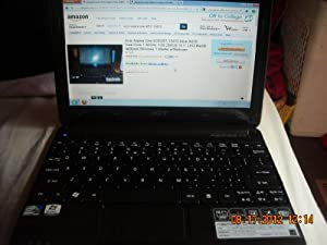 "Acer Aspire One AOD257-13473 Atom N570 Dual-Core 1.66GHz 1GB 250GB 10.1"" LED-Backlit Netbook Windows 7 Starter w/Webcam"