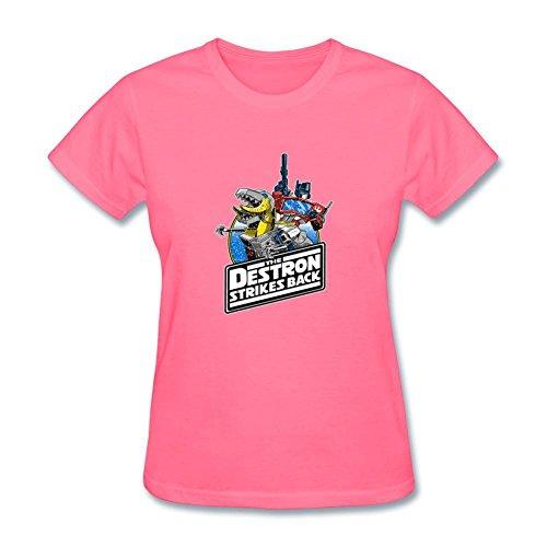 VEBLEN Women's Transformers Design Cotton T Shirt