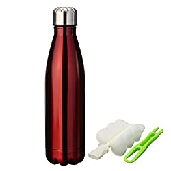 Pexpo Electro 500ml RED Vacuum Hot And Cold Stainless Steel Water Bottle Keeps Drinks Hot or Cold More Than 18hrs