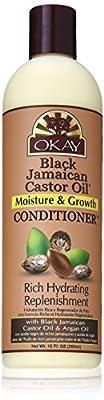 Okay Jamaican Castor Oil Moisture Growth Conditioner, Black, 12 Ounce