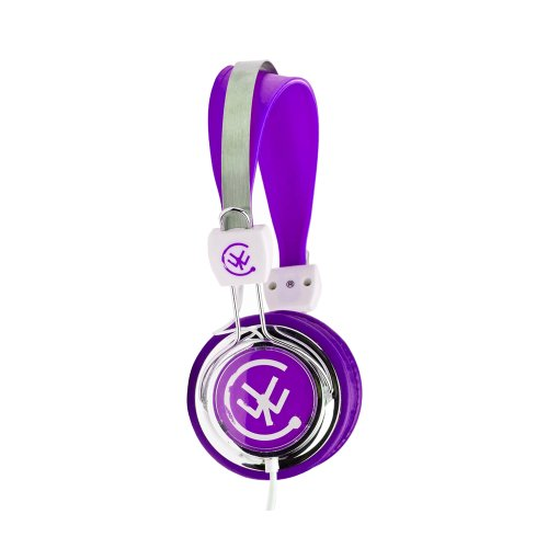 Urbanz Zip Kids Childrens Lightweight Dj Style Headphones (Purple)