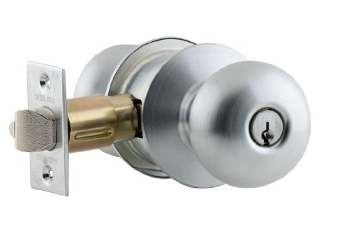 Privacy Function Tulip Design Schlage A40S TUL 626 Series A Grade 2 Cylindrical Lock Satin Chrome Finish Keyless