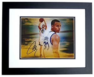 Stephen Curry Autographed Hand Signed Golden State Warriors 8x10 Photo BLACK CUSTOM... by Real Deal Memorabilia