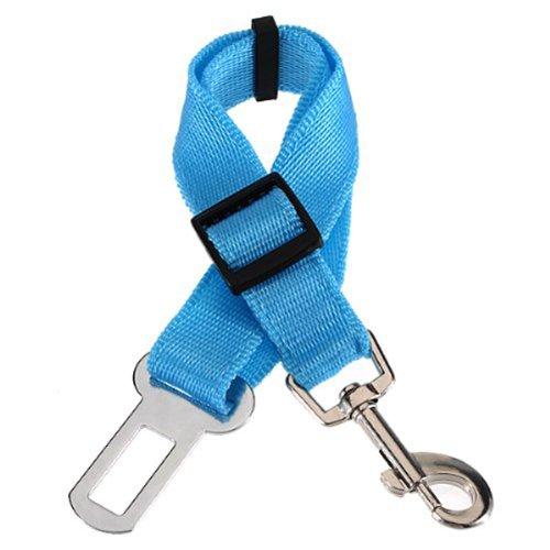 Foxnovo Portable Adjustable Car Vehicle Mount Pet Puppy Dog Cat Safety Belt Seat Belt Restraint Harness Lead (Sky-Blue) front-913457