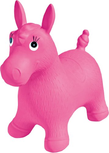 Ball Bounce And Sport Pony Inflatable Animal Hopper, Pink