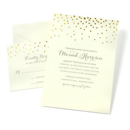 Gartner Studios 50ct. Gold Dot Border Invitation Kit by Gartner Studios