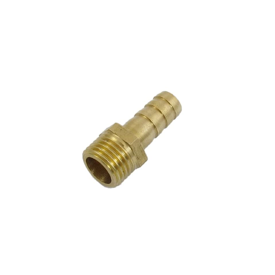 uxcell 8mm x 13mm Fuel Gas Hose Barb Male Thread Straight Coupling Fitting