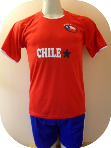CHILE SOCCER KIDS SETS JERSEY   SHORT SIZE 6 .NEW Review 2943a078c