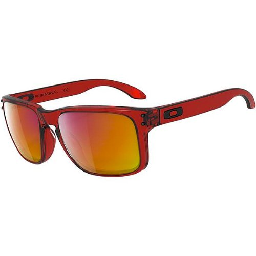 Oakley Holbrook Men Casual Sunglasses – Color: Crystal Red/Ruby Iridium