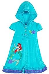 Disney Store Ariel The Little Mermaid Hooded Swimsuit Cover Up Swimwear Size XS 4