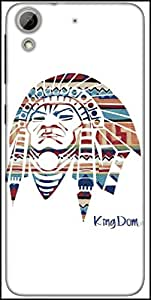 Snoogg Red Indian Designer Protective Back Case Cover For HTC Desire 626