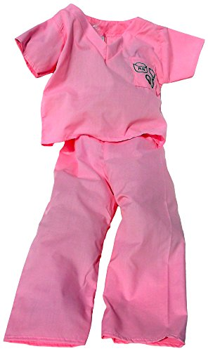 Pink Nurse Scrubs Costume For Dress Up And Halloween - Made In The Usa Size 3T