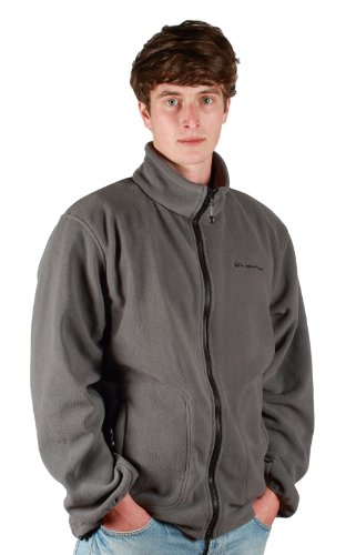 Outdoor Scene Mens Outdoor Scene Polar Fleece Jacket XX-Large Midnight Grey