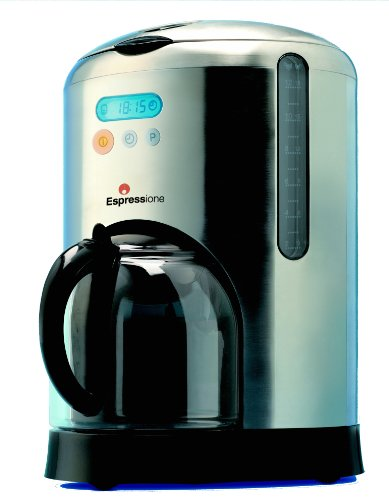 Espressione 10-Cup Digital Filtered Coffee Maker, Stainless Steel front-605215