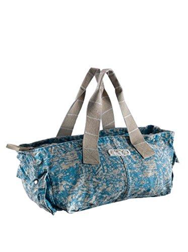 Invicta Shopping Bag Horinzontal blu/grigio