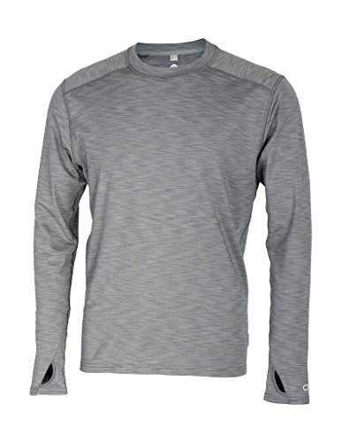Club Ride Shirt Men L/S Fondango Crew Neck Pullover XL Smoke MJFC501