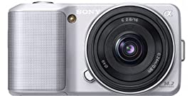 Sony Alpha NEX-3 Compact Interchangeable Lens Digital Camera w/16mm Lens (Silver)