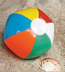 72 Mini BEACH BALLS - Traditional Style SIX PANEL Inflatable 5