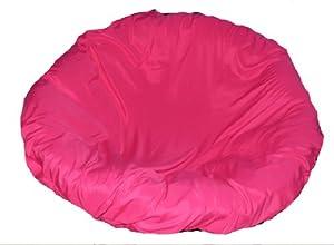 Hotpink papasan cushion cover and footstool for Papasan cushion cover