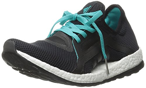 Adidas Performance Women's Pure Boost X Running Shoe,Black/Shock Green/Black,8 M US