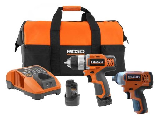 RIDGID 12V Lithium-Ion Drill and Impact Driver Combo Pack