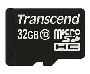 Transcend 32 Go Carte mémoire microSDHC Classe 10 TS32GUSDC10E [Emballage « Déballer sans s'énerver par Amazon »]