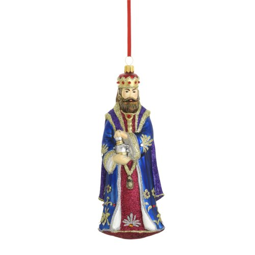 Reed & Barton King Gaspar Christmas Ornament, 6-3/4-Inch