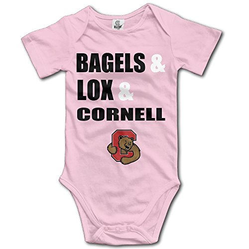 Boxer98 Baby Crawl Walk Bagels Lox And Cornell Body Suit Pink 12 Months