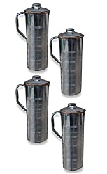 AsiaCraft Stainless Steel Copper Bottle Jug with Lid, Set of 3