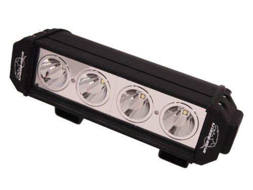 """Lazer Star 100401 Lx Led Black Finish 10"""" 10 Watt 4-Led Spot Light Bar"""