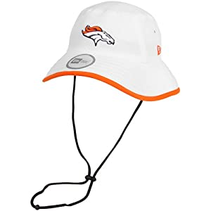 New Era Denver Broncos Training Bucket Hat White by New Era