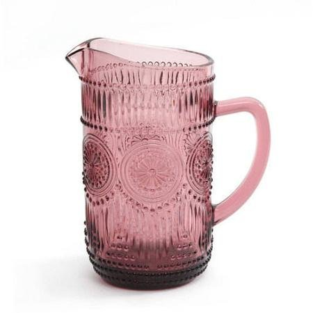 The Pioneer Woman Adeline 1.59-Liter Glass Ice Tea Water Pitcher Bar Drinkware, Plum (Kool Aid Man Pitcher compare prices)